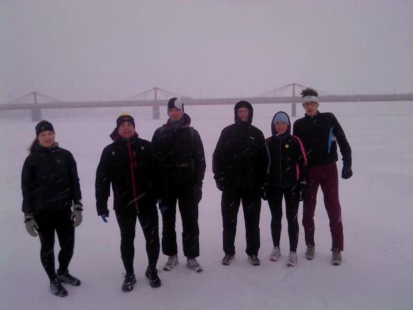 Skrējiens pa Daugavas ledu. 2012.gads