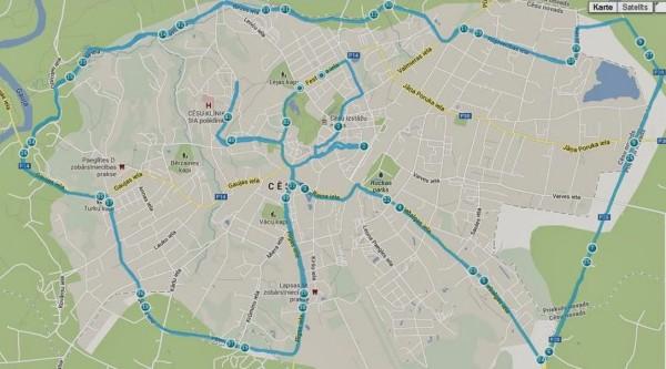 Īpašā 42.maratona trase 30.12.2013.