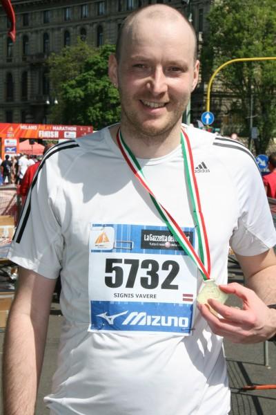 Pirmais maratons. Milāna.
