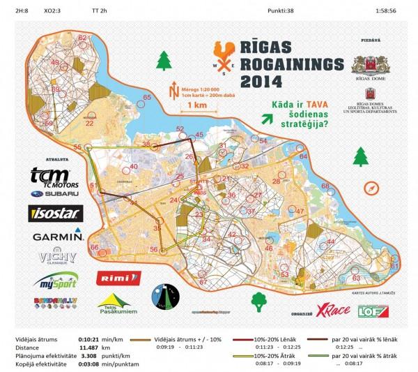Rīgas rogaininga karte