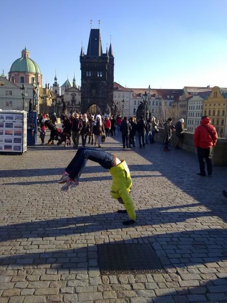 Iesildīšanās pirms skrējiena Prāgā