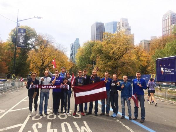 NYC maratona finišētāji