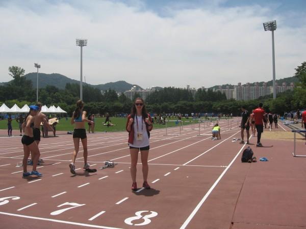 Korejā iesildīšanās stadionā. 2015