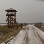 Putnu un ezera vērošanas tornis