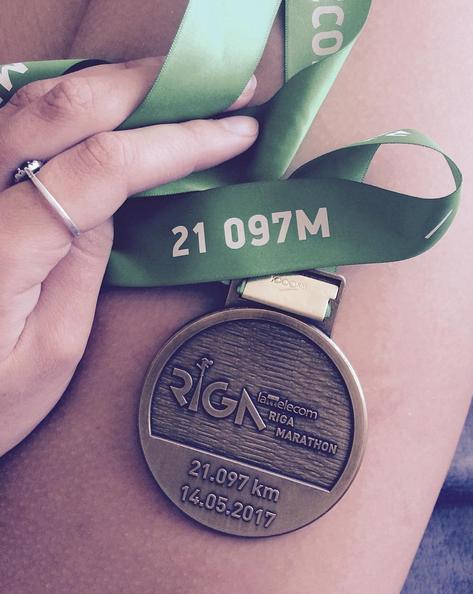 Pirmā pusmaratona medaļa