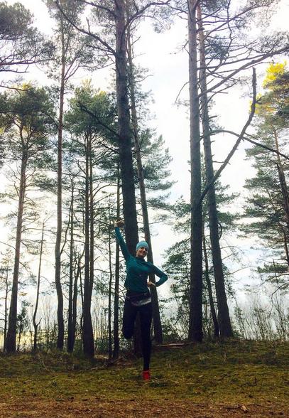 mežs tomēr ir mana mīļākā vieta, kur skriet