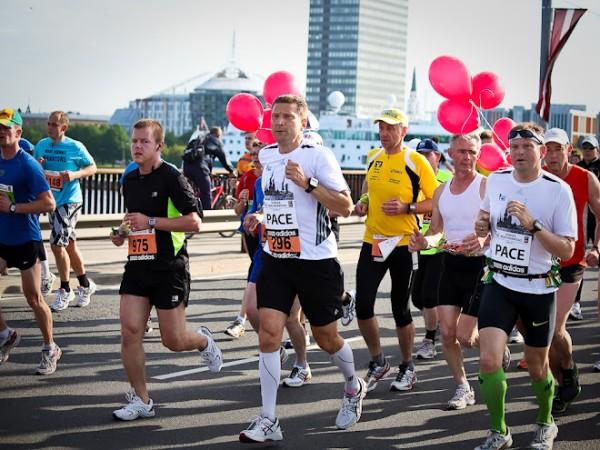 Debija tempa turēšanā. Rīgas maratons 2012