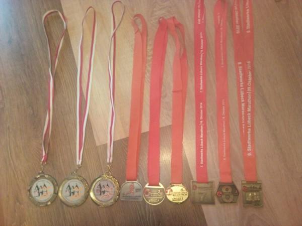 Lībekas maratona medaļu kolekcija