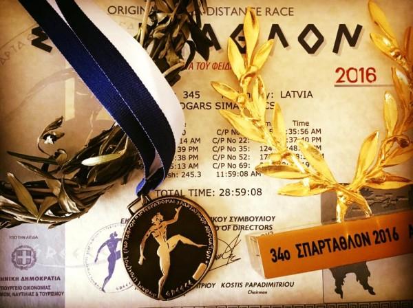 Spartatlona finišētāja komplekts
