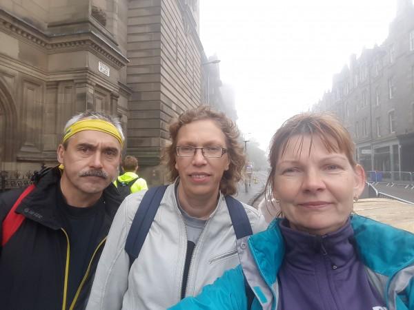 Kopīgs selfijs pirms maratona