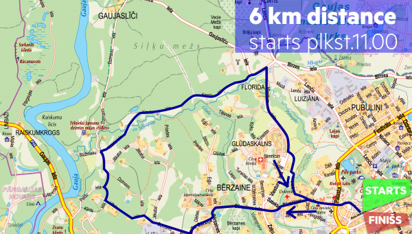 trase 6km