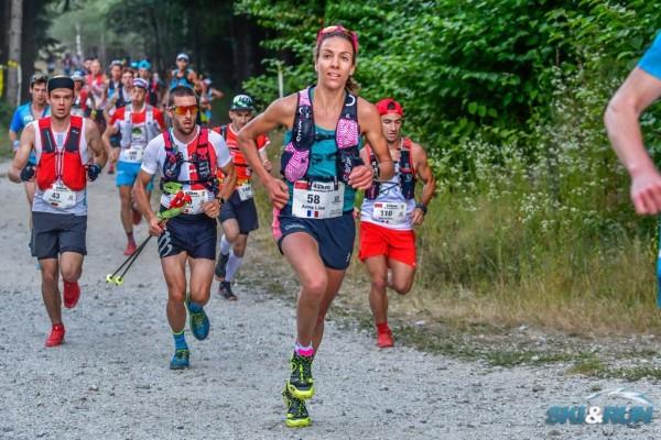 Foniņā ar sieviešu līderi pirmajos kilometros Foto: Ski & Run