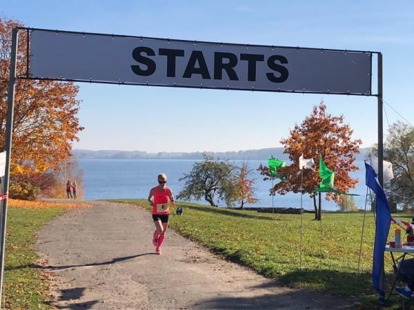 Manas pirmās sacensības manā dzimtajā pilsētā Aizkrauklē. Ļoti skaista rudens diena, un interesanta trase ar finišu un startu Daugavas krastā.