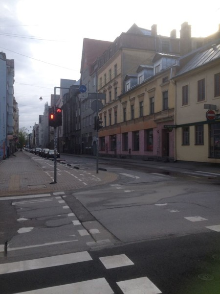 Rīgas ielas tukšas